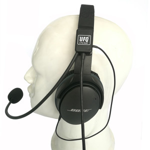 Image 1 - UFQ casque daviation Mike 2 combinaison de microphone pour Bose QC25,QC35, fonctionne également avec Sony ou Sennheiser, bonne qualité