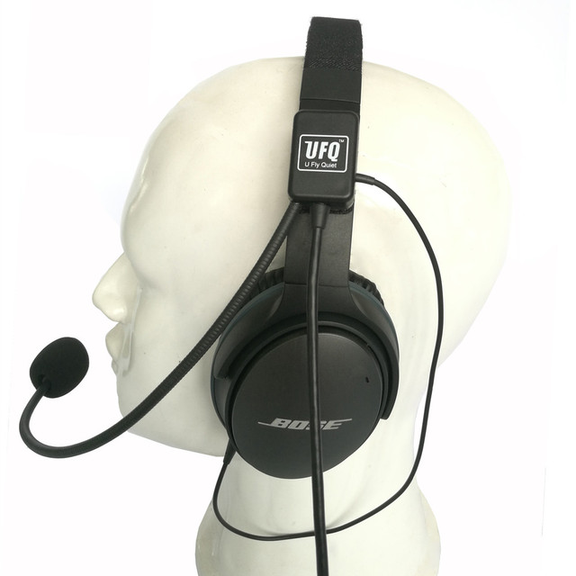 UFQ casque daviation Mike 2 combinaison de microphone pour Bose QC25,QC35, fonctionne également avec Sony ou Sennheiser, bonne qualité