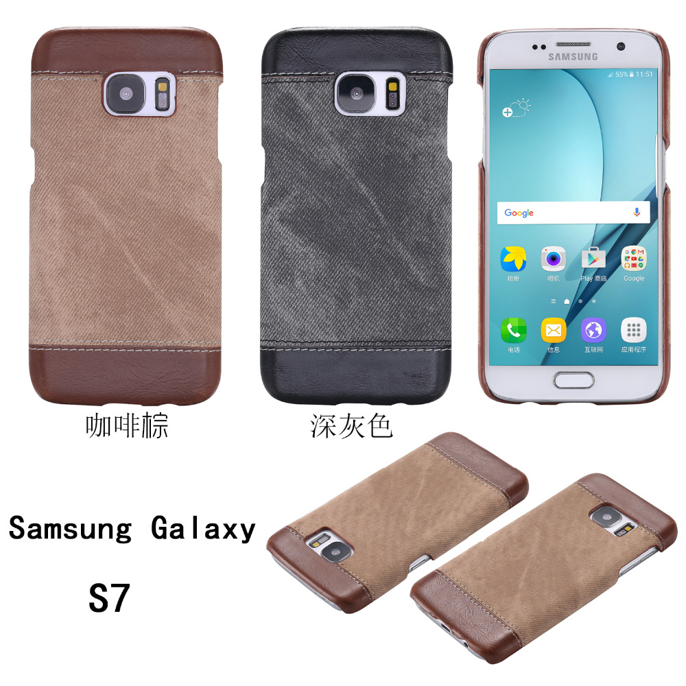 S7 Luxury Jeans Pattern Back Cover For Samsung Galaxy S7 High Quality Phone Case for sansung sumsung galaxie galaksi gelaksi