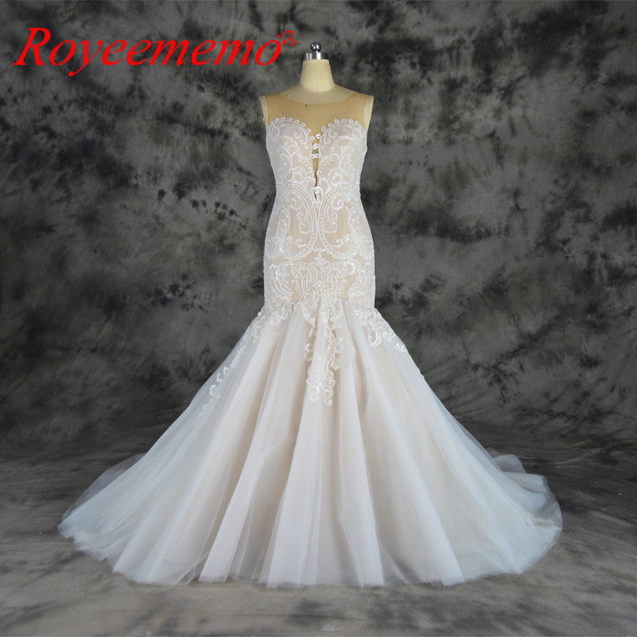 Classic Ivory Wedding Dresses: Aliexpress.com : Buy 2018 Nude Satin Lining And Ivory Lace