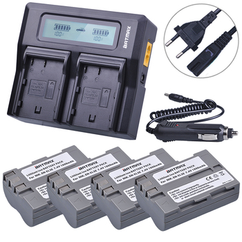 Batmax 4Pcs EN-EL3E EN EL3E ENEL3E Battery + LCD Rapid Dual Charger for Nikon D70 D70S D80 D90 D100 D200 D300 D300S D700 Camera