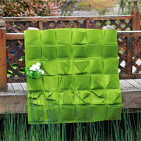 36 Pocket Vertical Garden New Felt Wall Grow Bag Garden Bag Hanging Wall Planting Bag Outdoor