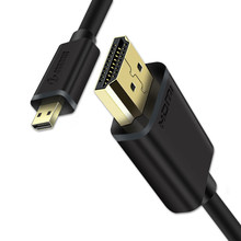 Micro HDMI To HDMI Cable Gold 4K Hard&Flexible 1M 2M 3M For Tablet Camera Phone Type D To A Micro HDMI Cord(China)