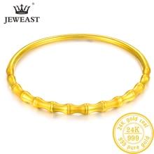 LKL 24K سوار ذهب نقي حقيقي 999 الصلبة الذهب الإسورة الراقي جميلة رومانسية العصرية الكلاسيكية مجوهرات الساخن بيع جديد 2020