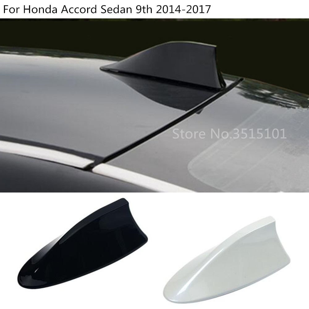 1x ABS White Shark Fin Roof Antenna Radio Cover For Toyota Highlander 2015-2018