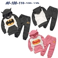 New 2014 autumn and winter batman Cartoon hero modelling suits Boys and girls hooded fleece children's clothing 4pcs/lot