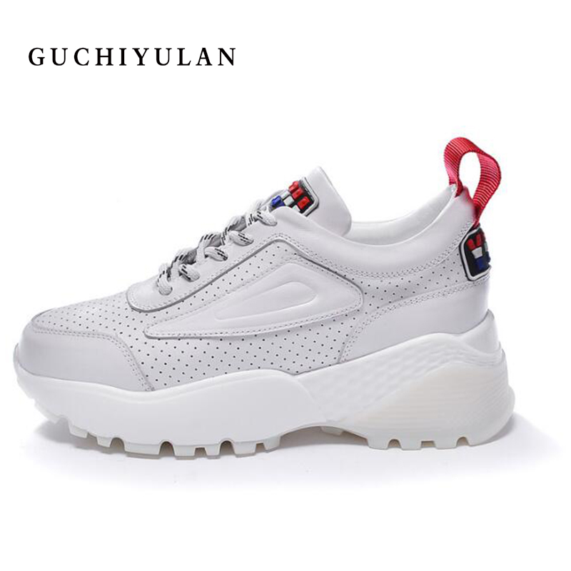 GUCHIYULAN New style Women Sneakers Flat Travel Shoes Lace Up Platform Creepers Female Casual Flats Ladies Shoes Tenis Feminino
