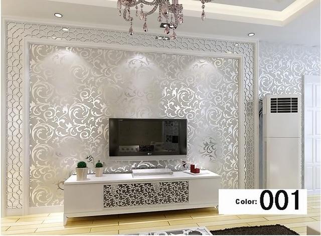 Italienischen Stil Moderne 3D Geprägte Hintergrundbild Für Wohnzimmer Silber  Und Grau Gestreiften Tapetenbahn Desktop Tapete