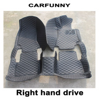 CARFUNNY Car floor mats for LHD and RHD All model Fiat 500 Bravo Viaggio Freemont Ottimo Car Interior Accessories