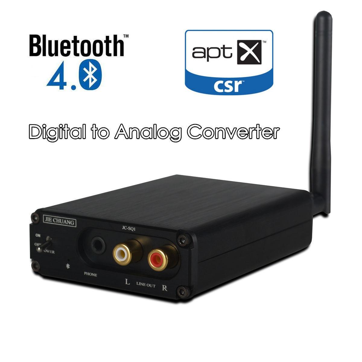 цена на HiFi Bluetooth 4.0 Audio Receiver DAC Digital to Analog Converter OPT COAX APT-X