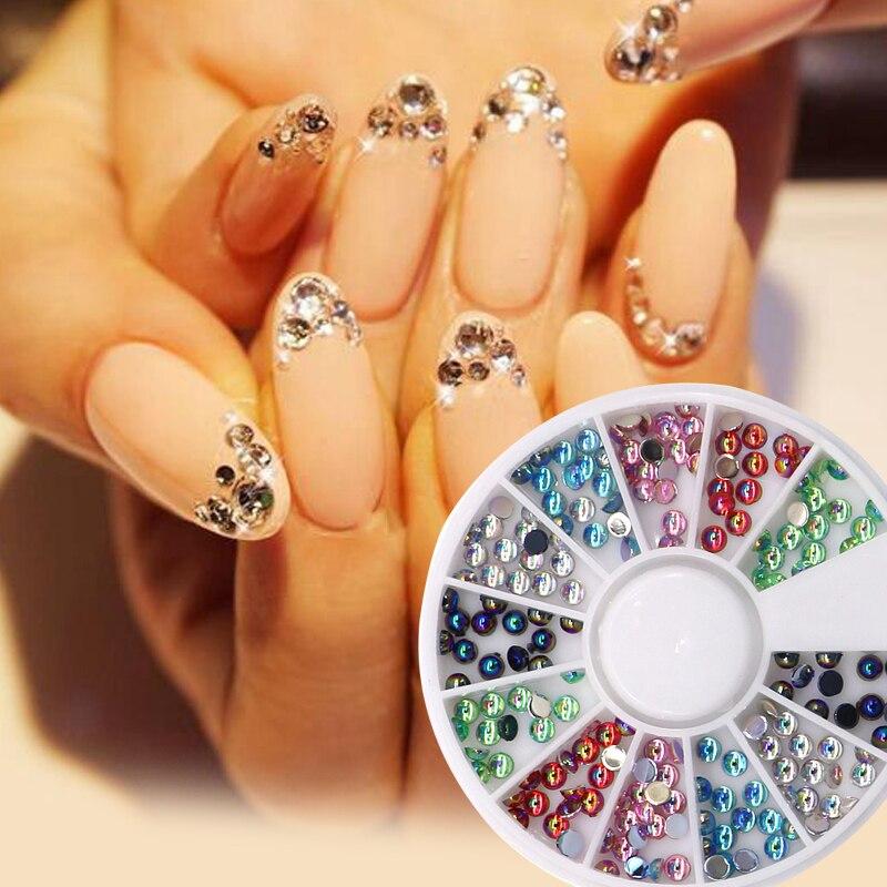 1Pcs Fashion 3D Nails Art Nail Stickers Tools Tips Studs Glitter Rhinestones For Nails DIY Nail Art Supplies Manicure Decoration 1set diy nail art manicure round glitter rhinestones tips decoration tweezer dotting tools pedicure nail manicure set beauty