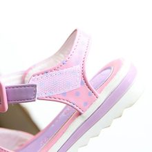 Girls Fashion Dots And Crystal Bow Sandals