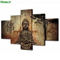 5pcs/set Zen Buddha Home Decoration DIY diamond painting Cross Stitch wall decoration diamond Embroidery religion