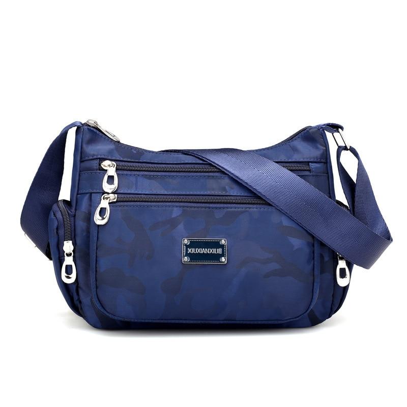 Bolso de bandolera de las mujeres de señora Crossbody Bolsa de Nylon Moda Mujeres Hobos Design Messager Bag 2017 Nueva llegada bolso femenino de la cremallera suave