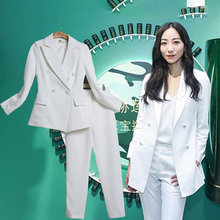 Two piece set top and pants professional interview dress OL ladies casual fashion temperament suit two-piece slim