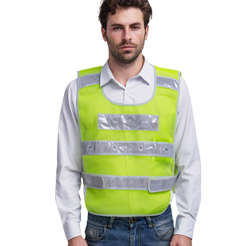 Reflective Vest Led lights Safety Working Clothing Outdoor Road Traffic Warning Tops Fluorescent Yellow Vest Breathable Workwear reflective vest antistatic clothing gas station factory work safety clothes breathable grid tops vest static resistance workwear