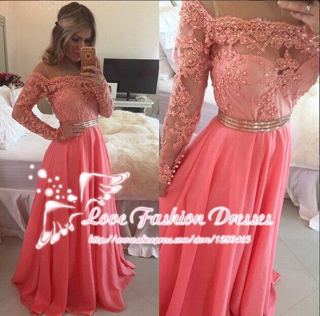 Vestidos de Festa Vestido Longo Coral Long Prom Dress Evening Dress ...