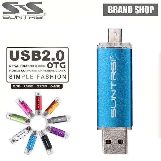 Suntrsi USB Flash Drive OTG Smart Phone Pendrive 64GB 8GB 16GB 32GB 4USB Stick Tablet PC Pen Drive Micro USB External Storage