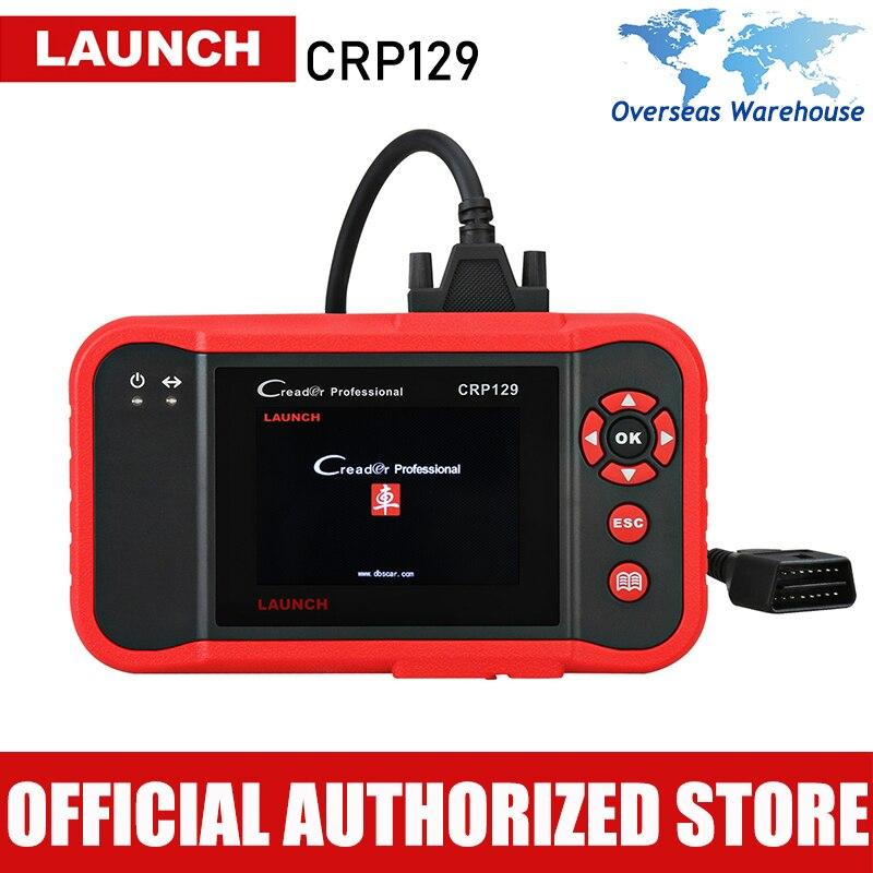 Оригинальный Launch X431 OBD 2 Creader CRP129 авто сканер OBDII диагностический инструмент авто читальный инструмент кодов Поддержать 4 Системы ABS SRS Brake