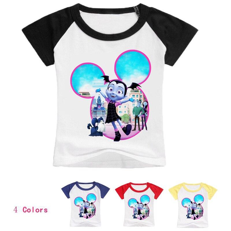 Z&Y 2-16Years Disfraz Vampirina Birthday Ballet Shirts Boys T-shirts Cartoon Sweat Enfant Baby Girl Tshirt Jamper Top Model T005