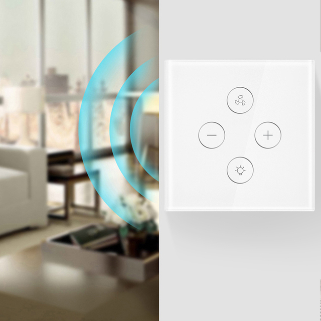 EU Plug Smart WiFi switch for Fan light Compatible with Alexa Google Home Smart Life App Control No Hub Required