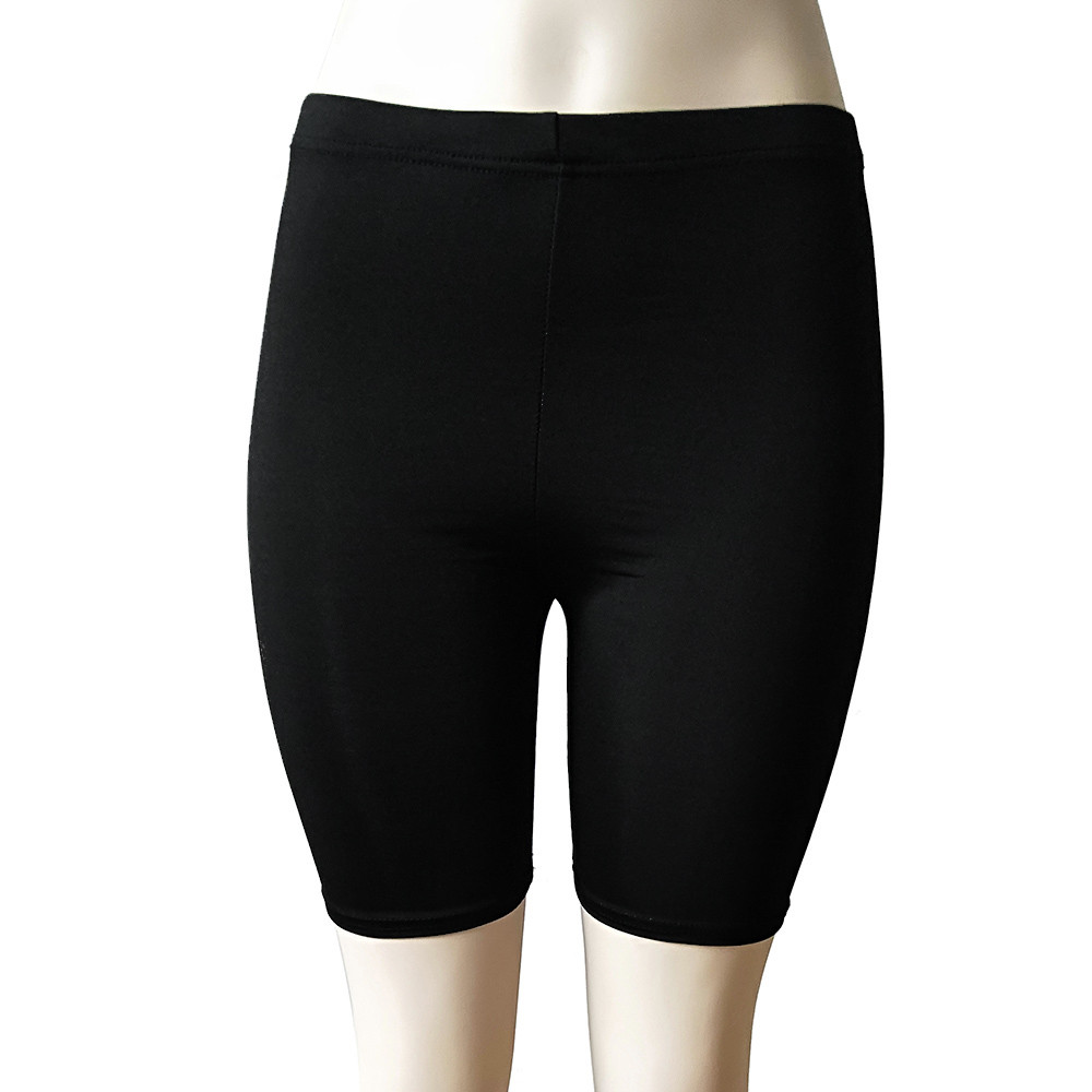 Women's shorts summer shorts Polyester Mid Women Fashion Solid High Elasticity popular Gym Active popular Cycling Shorts(China)