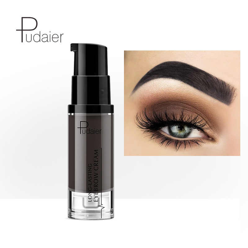 Pudaier คิ้วยาวนานครีมธรรมชาติ Liuqid Eyebrow GEL TATTOO แต่งหน้า Eye Brow Tint Brows Pigment Black Eyebrow Enhancer