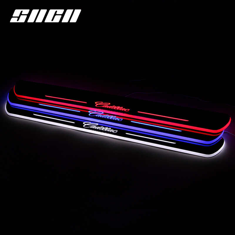 SNCN Trim Pedal LED Car Light Door Sill Scuff Plate Pathway