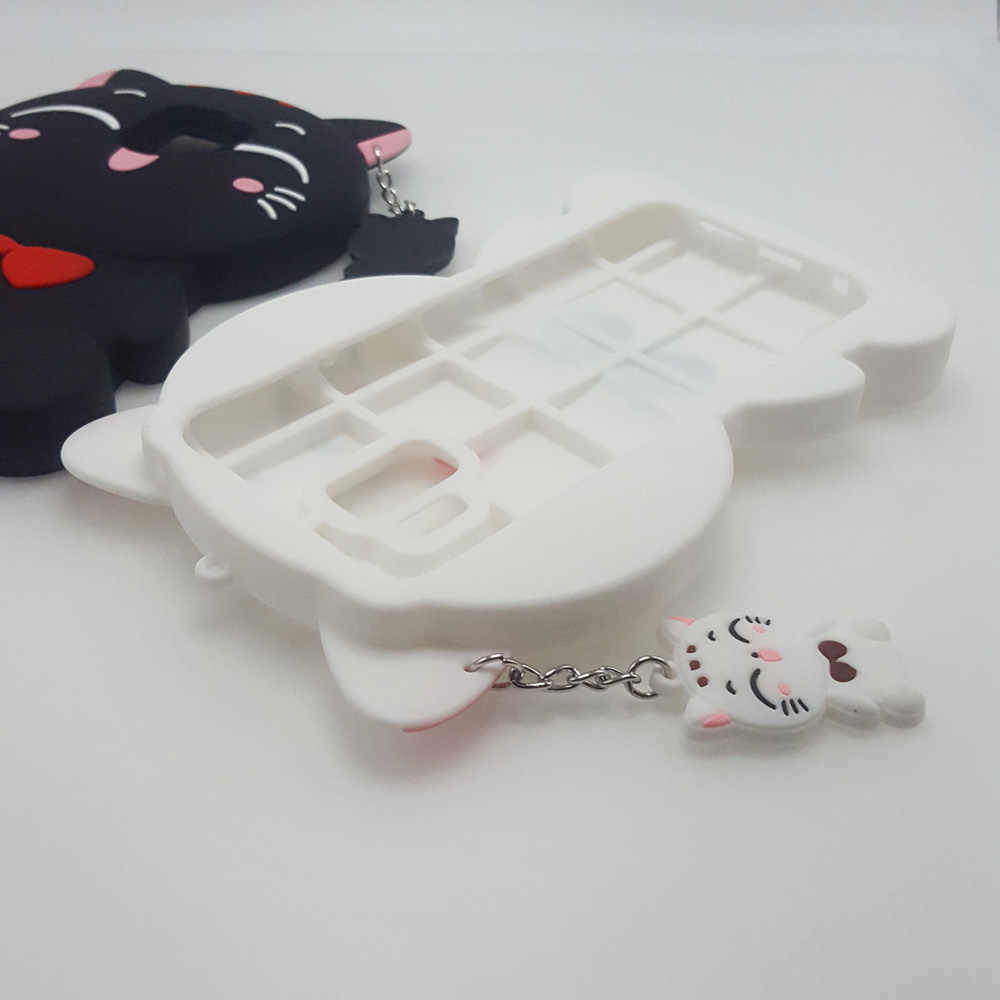 Милый 3D кавайная одежда, с героями мультфильмов, мяу Бабочка для кошек и медведь, Мягкий силикон чехол для samsung Galaxy S9/S9 большие резиновые чехлы для телефонов