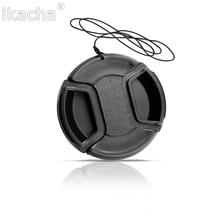 Черный Универсальный Камера объектив Кепки Защитная крышка 49/52/55/58/62/67/72/77/82 мм на выбор со шнурком для предотвращения утери высокое качество