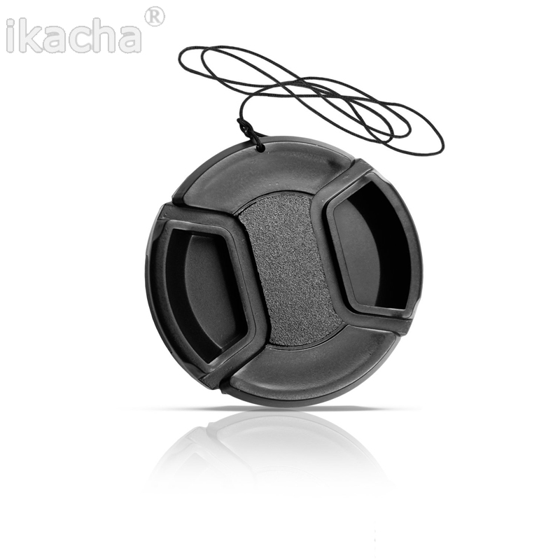 Black Universal Camera <font><b>Lens</b></font> <font><b>Cap</b></font> Protection Cover 49/52/55/58/62/<font><b>67</b></font>/72/77/82mm Provide Choose With Anti-lost Rope High Quality image
