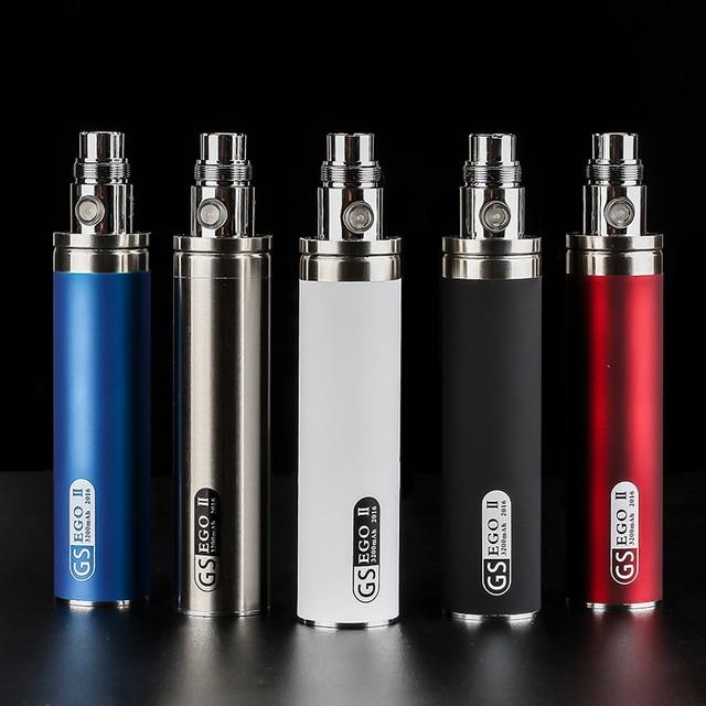 Оригинал GS Эго II 3200 мАч Батареи Испаритель Электронная сигарета Batterie огромная Емкость 510 Подходит СЕ4 СЕ5 mt3 электронной сигареты жидкостью vape ручка
