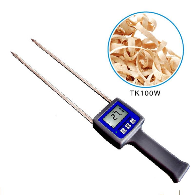 TK100W Grain Moisture Meter Digital Hygrometer Wood Sawdust Powder Hay Bale Peat Moisture Meter Hygrometer humidity Meter tk100w wood sawdust powder meter hay bale bamboo powder moisture fiber tester