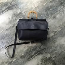 100% Genuine Leather Luxury Handbags Women Bags Designer Satchel High Quality Fashion Lady Shoulder Bag Black Top-Handle Bags цена 2017