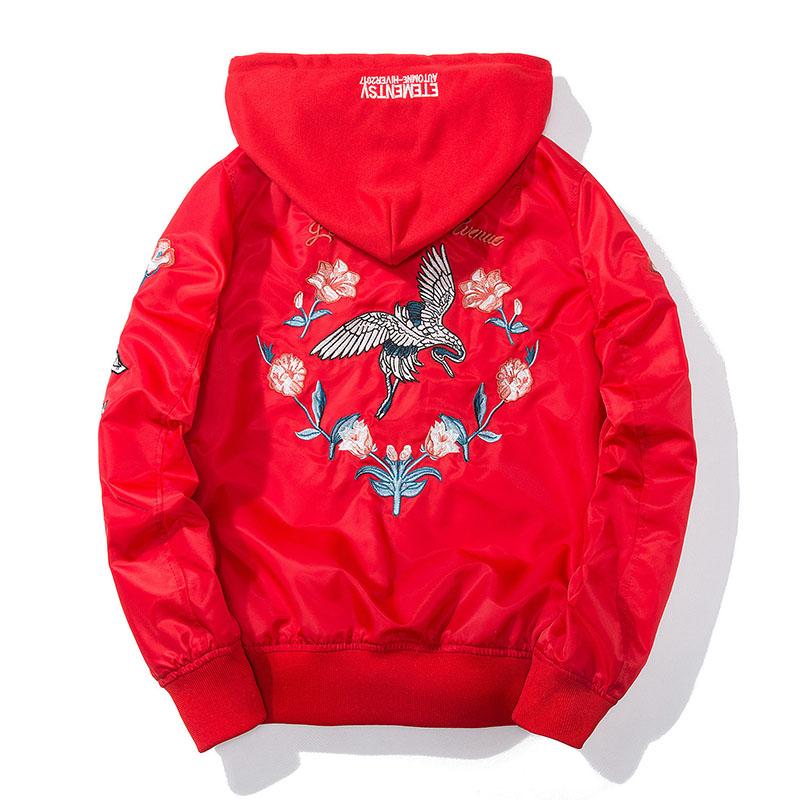Aolamegs Bomber Jacket Japanese Embroidery Thin Men's Jacket Couple Hip Hop Fashion Outwear Autumn Men Coat Baseball Jackets New (3)