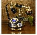 Бренд TQJ подлинные старинные керамические телефон/антикварные телефоны/черный классический фиксированной телефонной линии