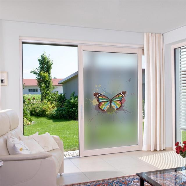 Butterfly Frosted Sticker Privacy Wall Sticker Glass Window Door