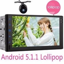 Android 5.1.1 Lollipop Double 2 Din 7″ Universal Car Radio Quad Core Head Unit HD Car GPS Navigation+DVR wifi mirror link camera