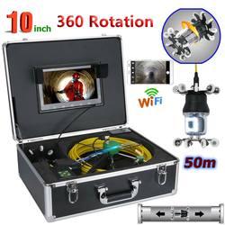 10 дюймов WiFi Беспроводная Труба инспекции видео камера слив канализационный трубопровод промышленный эндоскоп IP68 360 градусов вращающаяся