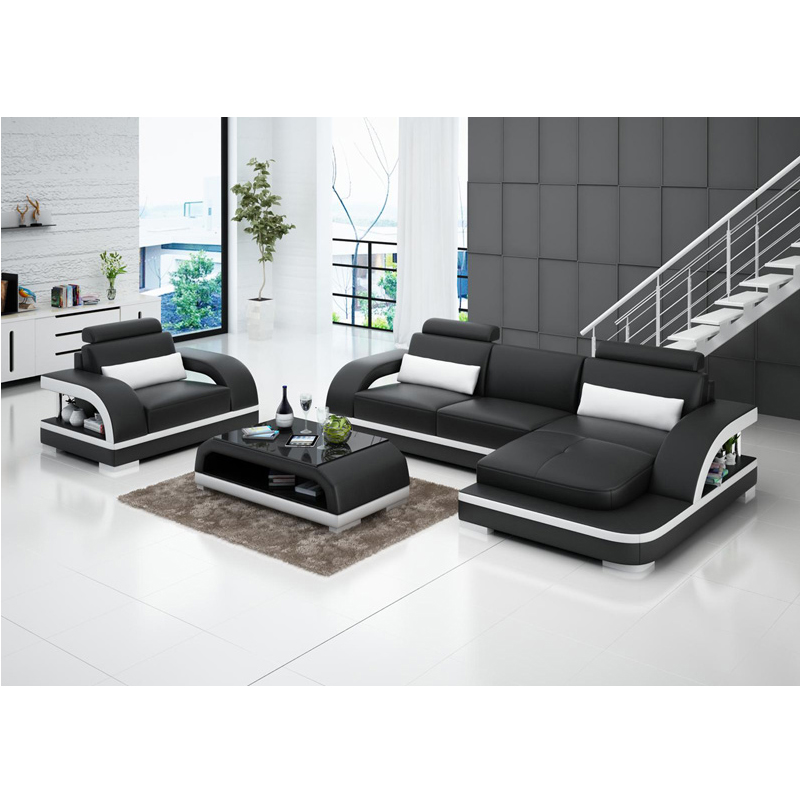 Leather Sofa Price: House Furniture Wooden Leather Recliner Sofa Set Price