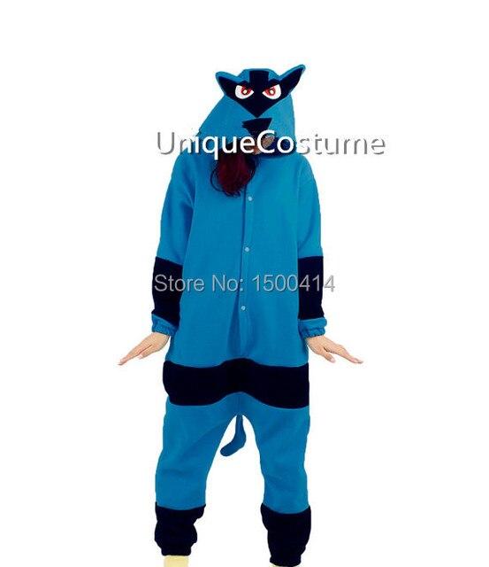 Adultos Polar kig Anime Onesie disfraz Pokemon Lucario hombres pijamas  Halloween fiesta de Navidad Cosplay disfraces 3f6ccdd3680f