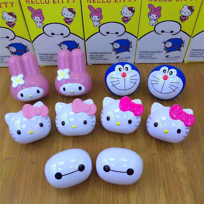 JERX Cute Wall USB charger For IPhone 8 X 7 Plus 5V/1A US <font><b>Plug</b></font> For Hello Kitty Baymax Lovely USB charging For Huawei <font><b>Smartphone</b></font>