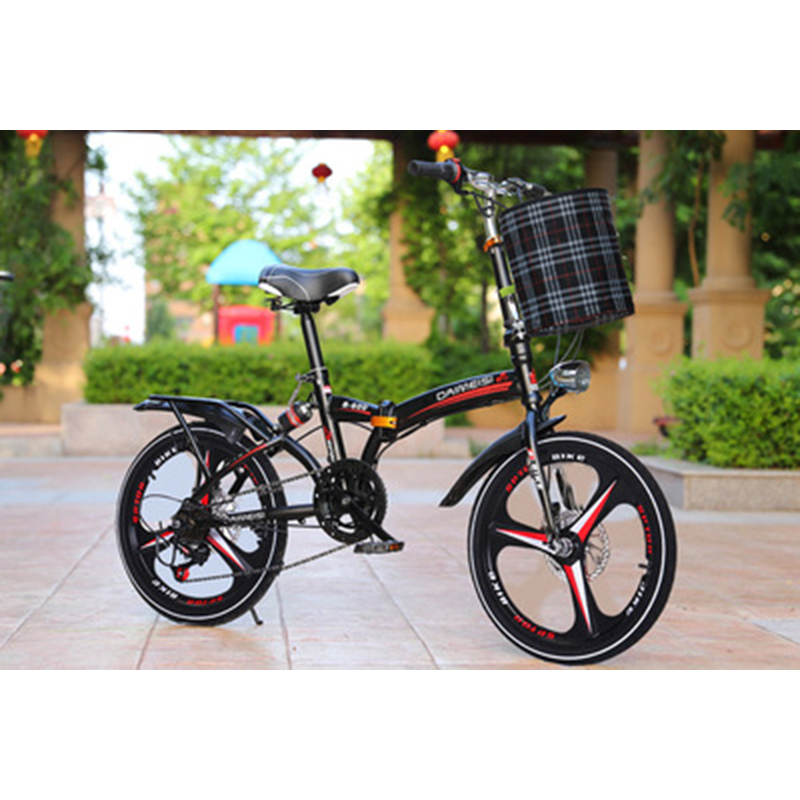 Folding Bicycle 20-Inch Variable Speed Grid Disc Brake For Adults With Men And Women Super-Light Students Carry Small Bicycles