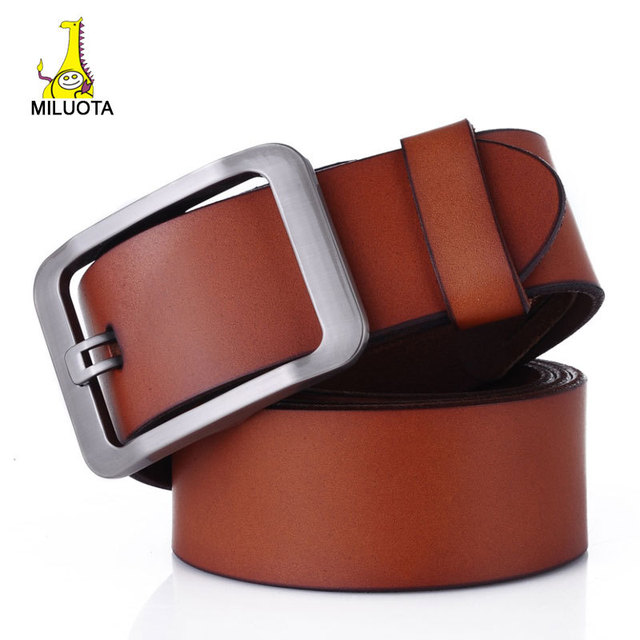 100% Genuine Leather Belts for Men Brand Strap Male Jeans Pin Buckle Mens Belt Luxury LW532