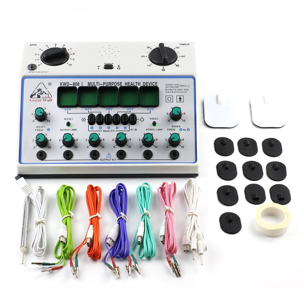 110V 240V 6 Channels Electric Body Therapy Massager Muscle Pain Cure Chinese Acupuncture Needle Stimulator Machine Health Device-in Massage & Relaxation from Beauty & Health