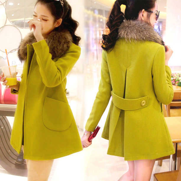 Cloth coat han edition of new fund of 2015 autumn winters is long dress in heavy hair collar jacket cotton thickening sons coat ...