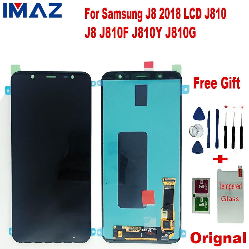 Worldwide delivery samsung j8 lcd amoled in Adapter Of NaBaRa