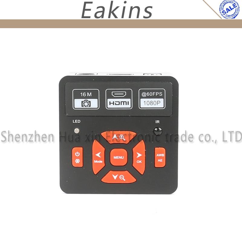 IR Digital 1080P 16MP HD HDMI USB Industrial Video Recorder Microscope Camera+130X lens+56 led light For lab phone repair