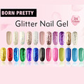 Popular 1 Bottle 10ml Born Pretty Shimmer Nail Gel 24 Colors Nail Polish UV Gel Polish Gold Silver Glitter Varnish Nail Gel