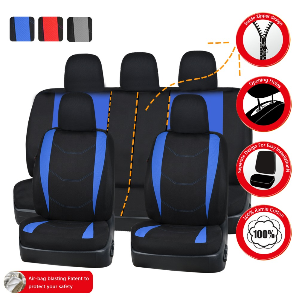 Blue Color New Style Car Seat Covers Universal Fit For 40 60 50 Solid Bench Rear Fabric Protector In Automobiles From